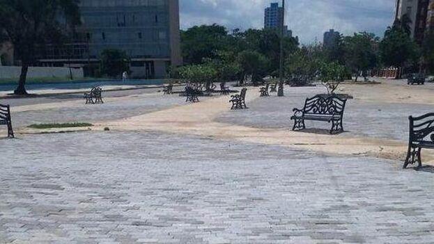 """La polémica llegó a los medios oficiales. """"¿Acaso no se irrespeta una zona histórica y patrimonial de El Vedado?"""", se pregunta 'Cubadebate' en un breve artículo. (Facebook)"""