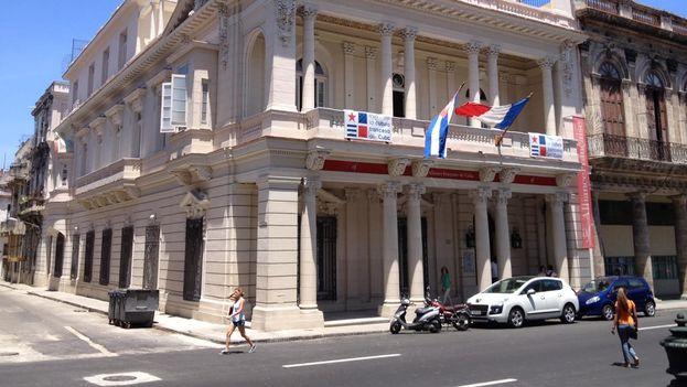 La nueva sede de la Alianza Francesa en el Paseo del Prado de La Habana. (14ymedio)