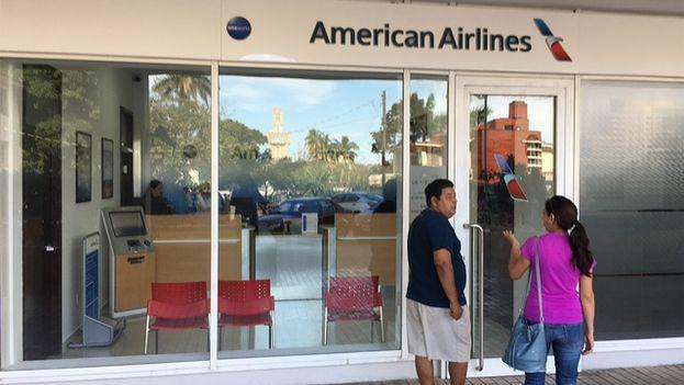 Primera oficina de American Airlines en La Habana. (14ymedio)