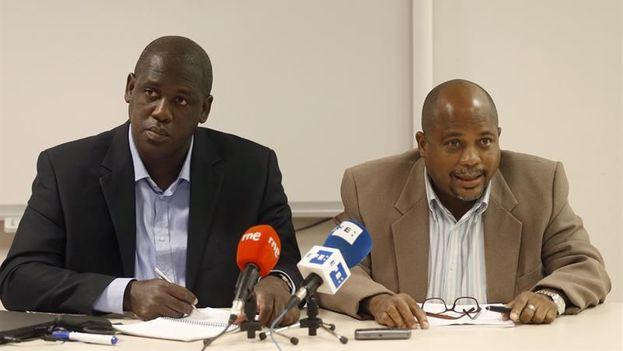 Juan Antonio Madrazo (izquierda) y Fernando Palacio (derecha) durante la rueda de prensa que ofrecieron este viernes en Madrid. (EFE)