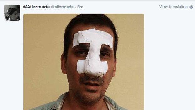 Antonio Rodiles tras la detención. (Ailer González)
