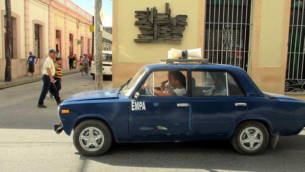 Auto anunciando las medidas ante la amenaza de epidemias en Holguín. (14ymedio)