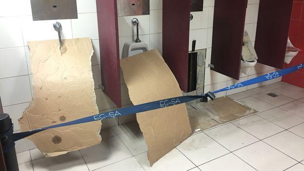 Baños para despedir a los turistas. (14ymedio)