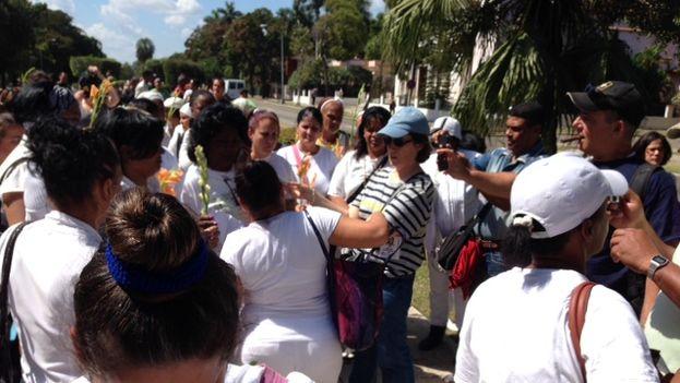 Berta Soler durante la conferencia de prensa de este domingo (Foto 14ymedio)