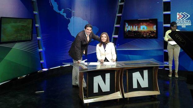 Mara Góngora, Eduardo Mora y Yisel Filiu en el set del programa Buenos Días. (Fuente: Facebook)