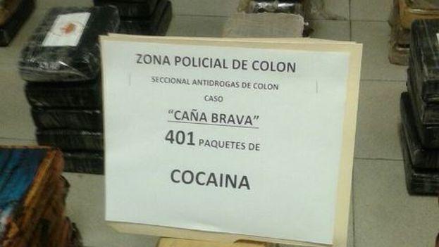 La cocaína fue confiscada por agentes de la zona policial de Colón. (Policía Nacional de Panamá)