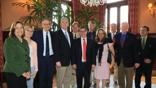 El Canciller y los legisladores estadounidenses abordaron temas de interés para ambos países.(Cubaminrex)