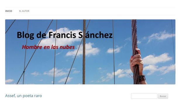 Captura de pantalla del blog Hombre en las Nubes, de Francis Sánchez. (CC)