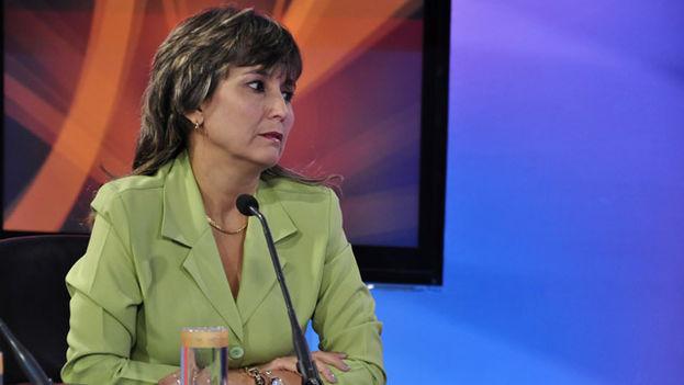 Captura de una intervención de Grisel Trista en el programa Mesa redonda de la televisión cubana