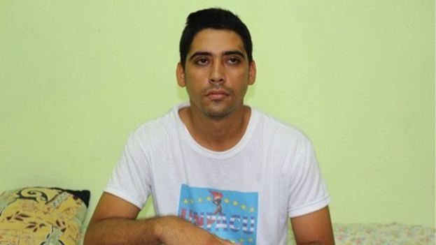 Carlos Amel, uno de los activistas en huelga de hambre. (Twitter/Unpacu)