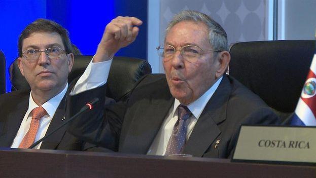Raúl Castro durante su discurso en la Cumbre de las Américas (EFE/Señal Instucional)