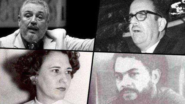 De izquierda a derecha y de arriba a abajo: Fidel Castro Díaz-Balart, Osvaldo Dorticós, Haydée Santamaría y Félix Pena.