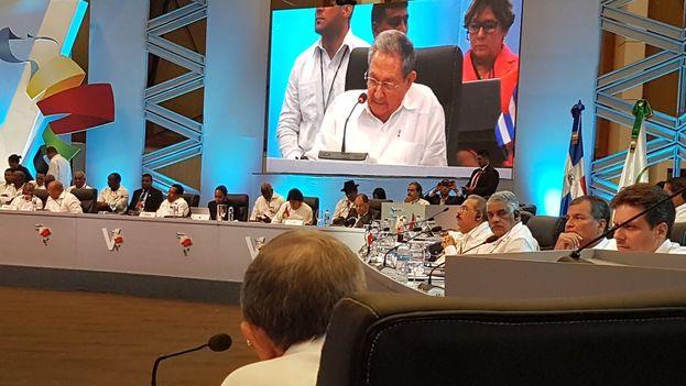 Castro ratificó su total apoyo a Venezuela en la Cumbre. (@JoseCarlosRguez)