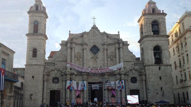Celebraciones este jueves en La Habana de manera simultánea a la Jornada Mundial de la Juventud que se celebra en Cracovia, Polonia. (14ymedio)