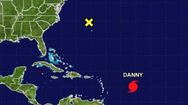 'Danny' en una imagen del Centro Nacional de Huracanes, ubicado en Florida. (NOAA)