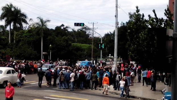 Concentración en La Habana en el Día de los Derechos Humanos. (14ymedio)