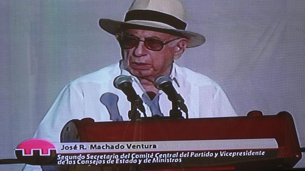 El vicepresidente de los Consejos de Estado y de Ministros, José Ramón Machado Ventura. (Captura de pantalla)