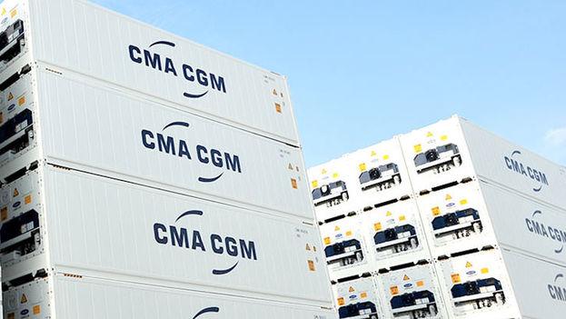 Contenedores del armador francés CMA CGM.