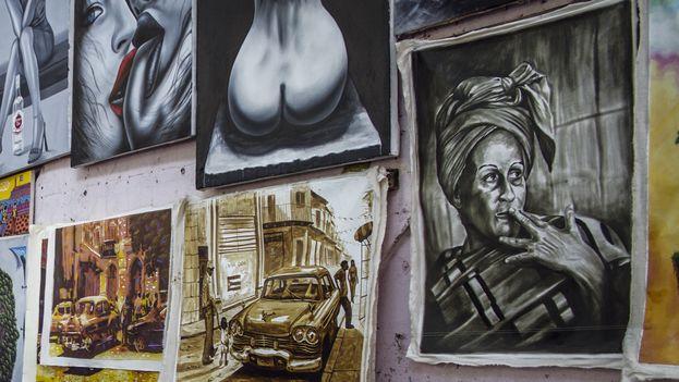Cuadro con rostro de mujer (Silvia Corbelle)