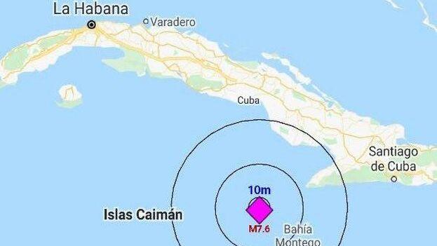 En Cuba fue perceptible en Guantánamo, Santiago de Cuba, Granma, Holguín, Las Tunas, Camagüey, Cienfuegos, La Habana, Pinar del Río, Villa Clara y el Municipio Especial de la Isla de la Juventud.