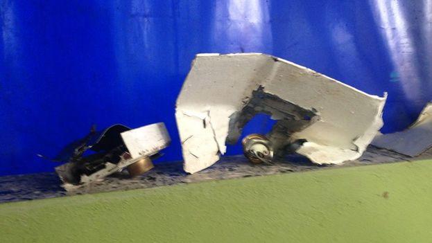 El llavín de la puerta de acceso a la sede de Cubalex fue destruido por los efectivos policiales para acceder al local. (14ymedio)