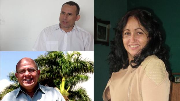 José Daniel Ferrer, Dagoberto Valdés y Miriam Celaya.
