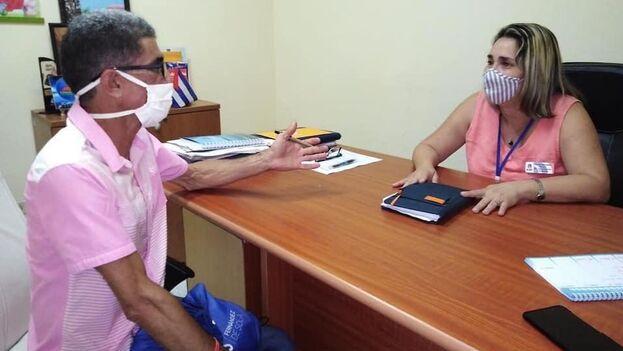 Después del revuelo causado por sus declaraciones, Yusimi González se excusó en una entrevista con el periodista Francisco Rodríguez Cruz. (Facebook/F.R.C)