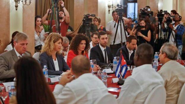 Segundo Diálogo sobre Medidas Coercitivas Unilaterales Cuba-Unión Europea. (EFE)