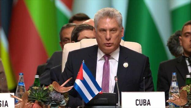 Díaz-Canel ha intervenido en la Cumbre del Movimiento de los No Alienados en Bakú.