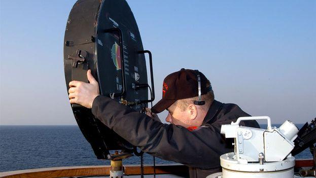 Dispositivo acústico de larga distancia utilizado en un buque de guerra de la armada estadounidense. (Wikimedia)