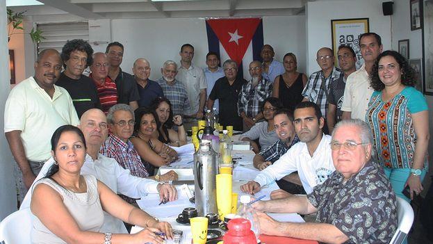Reunión del Espacio Abierto de la Sociedad Civil. (14ymedio)