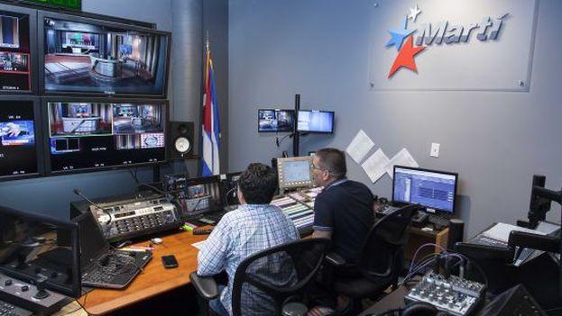 Estudio de Radio Martí. (archivo)