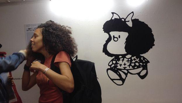 """Exposición """"Los mundos de Quino"""" en homenaje al artista argentino, en la Casa de las Américas, La Habana. (14ymedio)"""