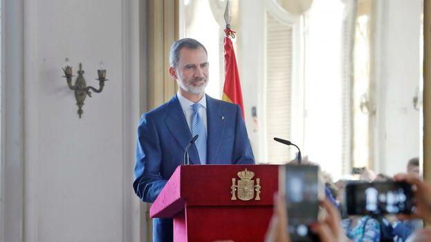 """Felipe VI calificó a la Isla de """"hermana y amiga"""" y """"país de acogida y arraigo"""" que cuenta con unos 140.000 españoles. (EFE)"""