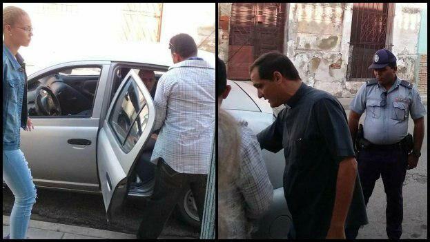 Mario Félix Ramírez, promotor de la revista 'La Hora de Cuba', compartió en su página de Facebook imágenes de la detención de Constantín. (Cortesía)
