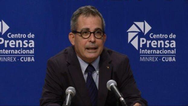 Juan Antonio Fernández Palacios, subdirector de Prensa, Comunicación e Imagen del Ministerio de Relaciones Exteriores. (Minrex)
