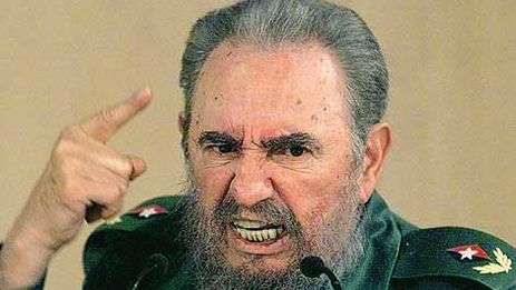 Fidel Castro en Roma en 1996