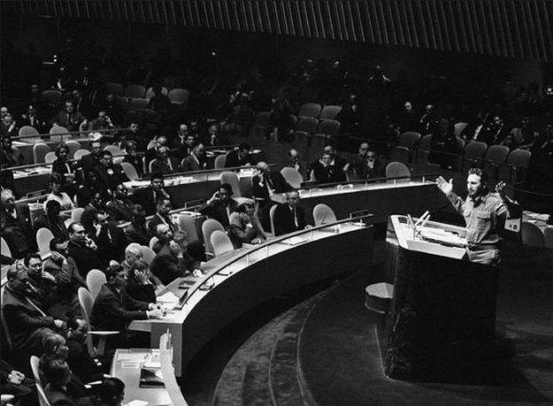Fidel Castro durante un discurso en la ONU. (Archivo)