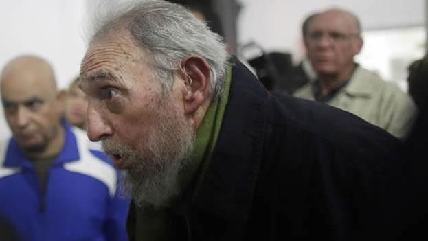 Fidel Castro en enero de 2014