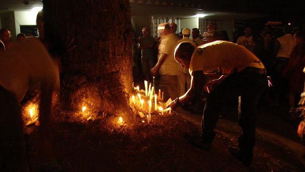 Final de la ceremonia yoruba. (Ricardo Fernández/14ymedio)