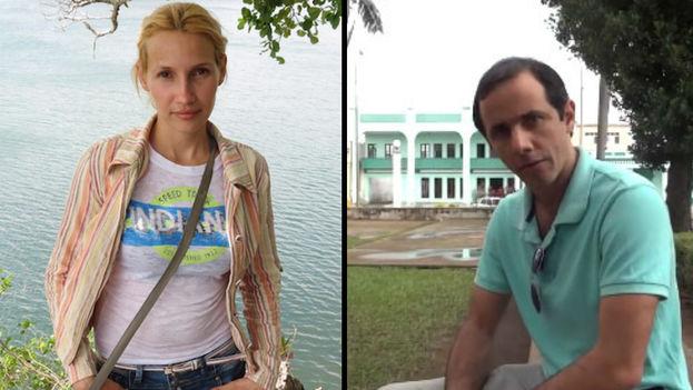Los periodistas independientes Sol García Basulto y Henry Constantín Ferreiro. (14ymedio)