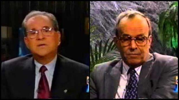Uno de los pocos debates entre la oposición y el Gobierno ocurrió en 1996 entre el líder del exilio Jorge Mas Canosa y Ricardo Alarcón presidente de la Asamblea Nacional. (Captura)