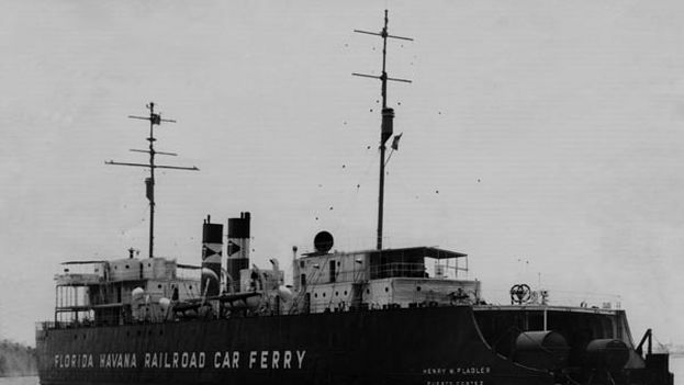 Imagen del ferri Cayo Hueso-La Habana tomada en 1951. (HistoryMiami Archives & Research Center)
