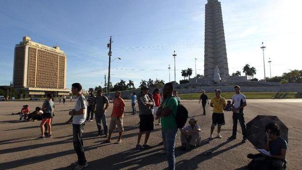 Imágenes en la Plaza de la Revolución el 30 de diciembre