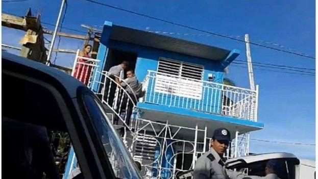 Imagen de un allanamiento anterior, en marzo de 2016, contra la sede de la Unión Patriótica de Cuba en Santiago de Cuba. (Facebook)