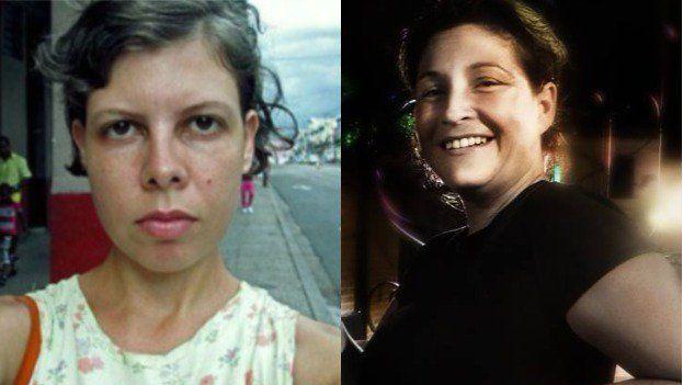 La actriz Iris Ruiz y a la bloguera Lia Villares. (14ymedio)