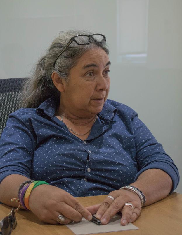 Juana Mora Cedeño, directora de la organización Arco Iris Libre de Cuba. (Milkos D. Sosa)