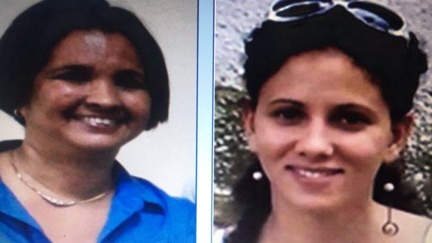 Karin Gálvez Chiú y Rosalia Viñas Lazo, miembros de Convivencia, citados por la policía cubana. (Cortesía)