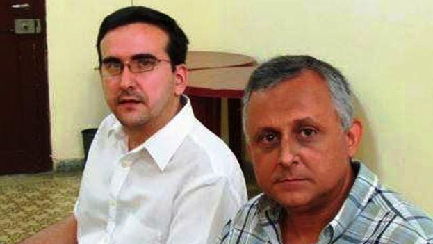 Lenier González y Roberto Veiga (foto de archivo)