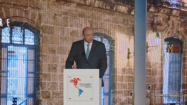 Rodrigo Malmierca, ministro de Comercio Exterior, interviene en Foro Empresarial. (Twitter)